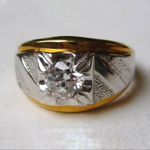 Vintage Men's CZ Ring